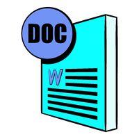 DOC file icon in icon cartoon
