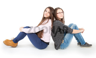 two young girlfriends