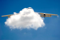 Plane and cloud