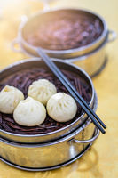 Delicious traditional chinese Baozi buns