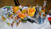 Painting material, painting utensils