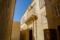 Typical traditional street in Malta  Mdina