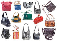 collection of handcrafted ladies leather bags