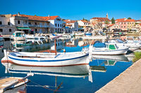 Hvar. Old town f Vrboska waterfront view