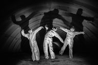 Ghosts in dark tunnel of nuclear power plant