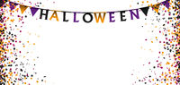 Halloween Buntings Colored Confetti White Header