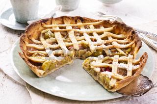 rhubarb pastry