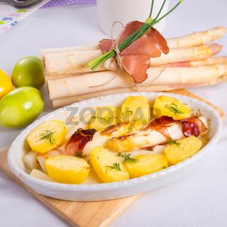asparagi and ham brown