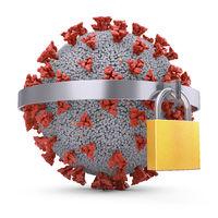 Coronavirus metal padlock