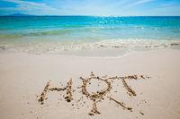 HOT handwriting on beach