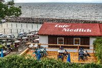 Lohme, Rügen, Germany - august 31, 2018: Cafe Niedlich at the seaside