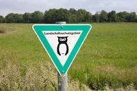 Sign landscape protection area