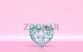 Lattice green heart 3D