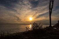 Sonnenuntergang an der Ostseeküste bei Nienhagen