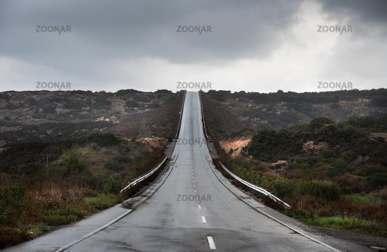 Empty asphalt highway road
