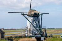 Restauration der Mühle auf Texel
