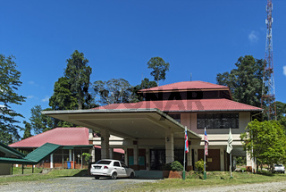 Hauptgebäude des Danum Valley Forschungszentrums, Sabah, Borneo, Malaysia