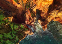 Above image of Ponta da Piedade headland, Lagos town, Portugal