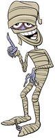 mummy Halloween character cartoon illustration