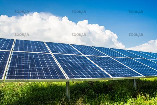 Solarpanels on field