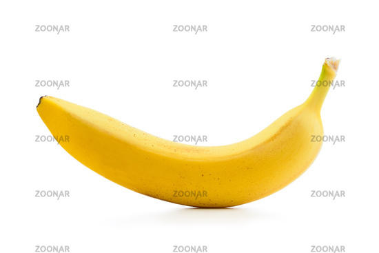 Fresh banana isolated on white