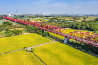red famous Xilou Bridge