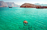 Boat tour and diving in Musandam in Oman