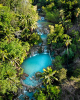 Cambugahay Falls, Siquijor, The Philippines - Aerial Photograph