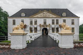 Wasserschloss Norderburg in Dornum, Ostfriesland, Niedersachsen, Deutschland