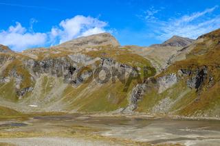 Beautiful alpine mountains in autumn in Austria.