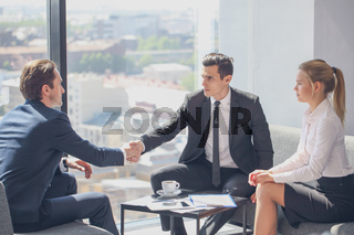 Handshake at job interview