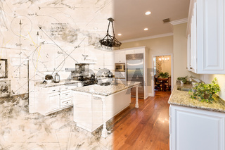 Beautiful Custom Kitchen Design Drawing Cross Section Into Finished Photograph