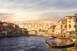 The Grand Canal of Venice, morning view, Italy