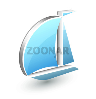 Boat yacht icon