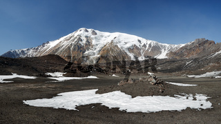 Panorama volcano landscape of Kamchatka Peninsula
