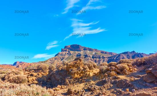 Panoramic view of highland in Tenerife island