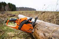 Chain saw Feuerhol cutting