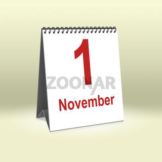 November 1st   1. November