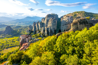 Sunny Day Over the Meteora Valley