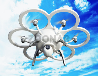 Drone with six propellers