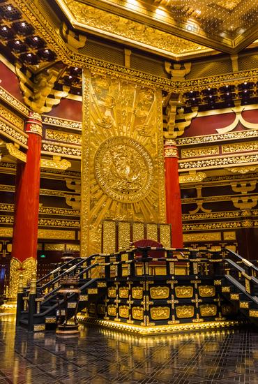 Interior of pagoda in Luoyang City National Heritage Park - China