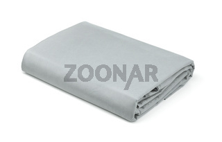 Folded grey cotton bedding sheets