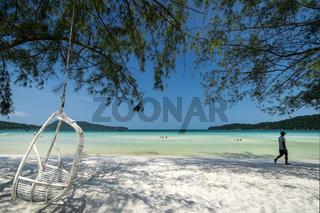 saracen Bay beach in Koh Rong Samloen island in Cambodia