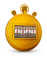 Golden stopwatch 2021