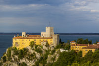 Duino Castle, a fourteenth-century fortification located near Trieste