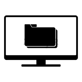 Ordner und Monitor - Folder and screen