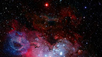 Starfield on night sky. Elements of this image furnished by NASA