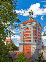 Rotes Tor, Red gate in Augsburg, Bavaria, Germany