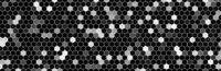 Grayscale abstract hexagon pattern