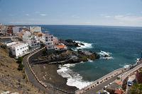 Playa Chica in Puerto de Santiago, Los Gigantes, Teneriffa, Kanarische Inseln, Spanien, Europe